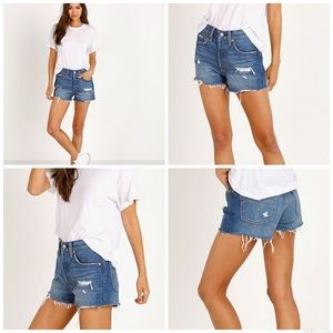 Levi's 501 High Rise Drive Me Crazy Frayed Shorts